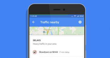 ล้ำหน้าโชว์ Traffic-nearby-351x185 Google Maps เพิ่มคุณสมบัติ Traffic nearby ทางลัดสำหรับดูสภาพการจรบน Android