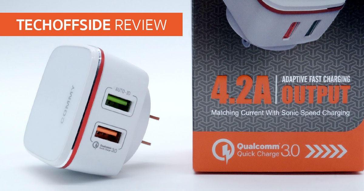 Commy Auto ID Quick Charge 4.2 ชาร์จเร็ว Charger รองรับ Qualcomm Quick Charge 3.0