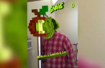 ล้ำหน้าโชว์ Nokia ส่งเกมงู Snake Mask ให้เล่นผ่านกล้อง AR ของ facebook Snake Mask Nokia