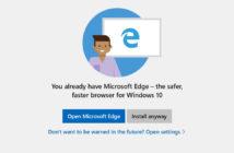 ล้ำหน้าโชว์ Microsoft แจ้งเตือนผู้ใช้ Windows 10 ไม่ให้ลง Chrome หรือ Firefox เพราะว่า Edge ดีกว่า Windows 10 Microsoft