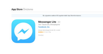 ล้ำหน้าโชว์ Facebook ออกแอพฯ Messenger Lite ให้ใช้เฉพาะบน iOS และ เฉพาะที่ตุรกี เท่านั้น Messenger Lite Facebook Lite Facebook