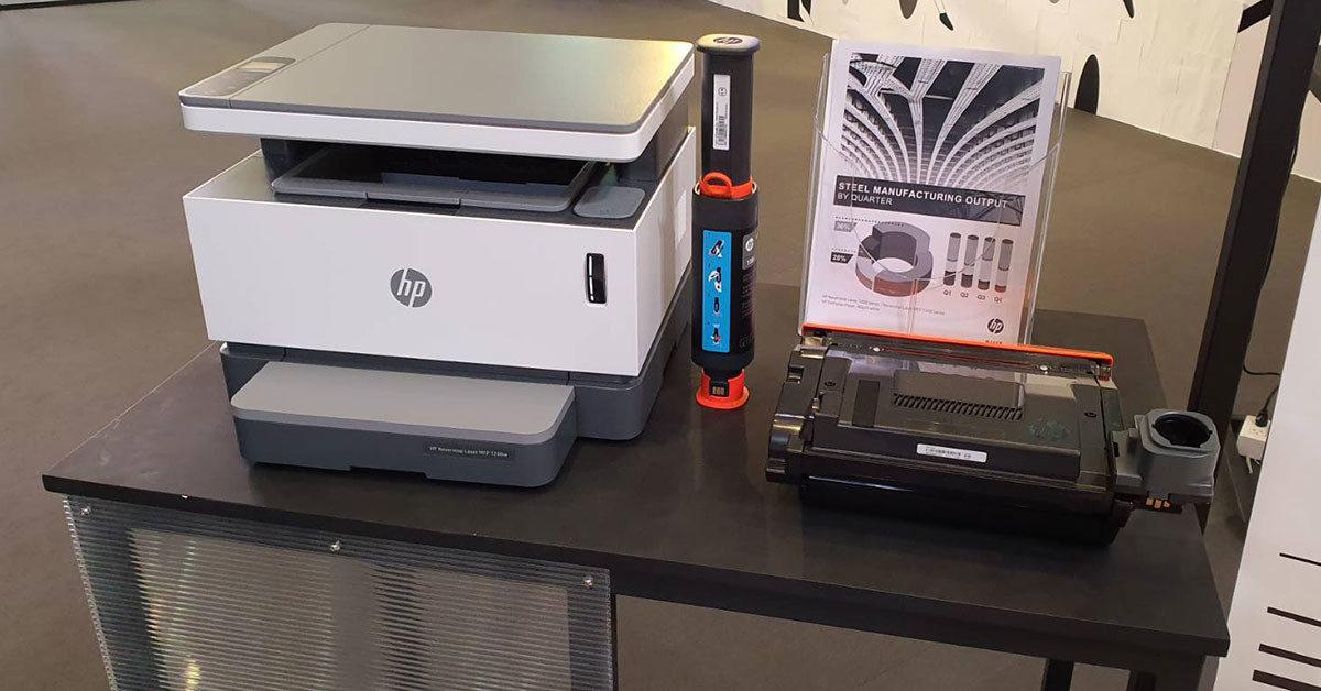 ล้ำหน้าโชว์ HP Neverstop Laser ครั้งแรกของเลเซอร์ปริ้นเตอร์ Toner Tank เติมผงหมึกได้เอง HP Neverstop Laser HP