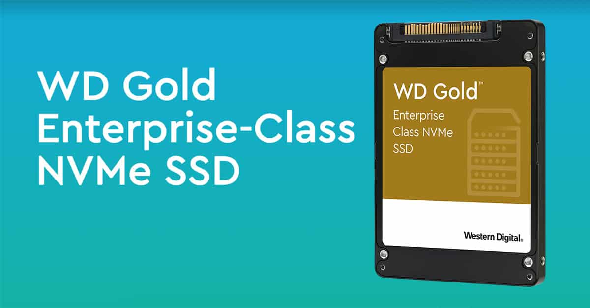 WD Gold NVMe SSD