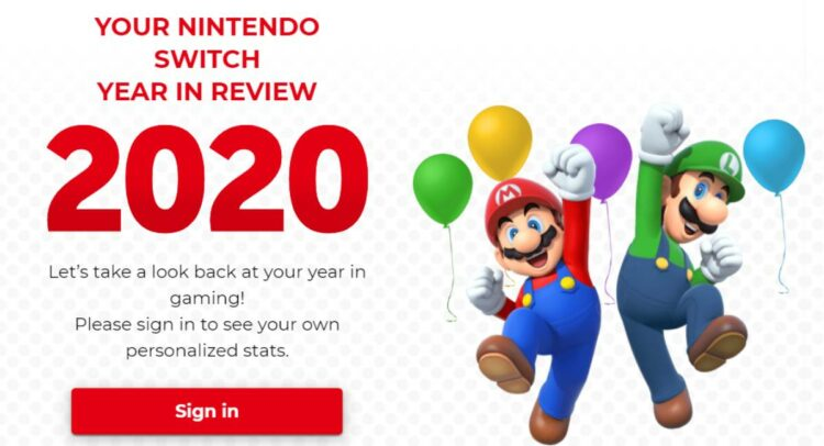 Nintendo Switch Year in Review 2020