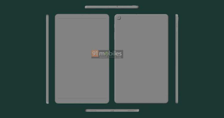 Galaxy Tab A 10.1 (2021) CAD render